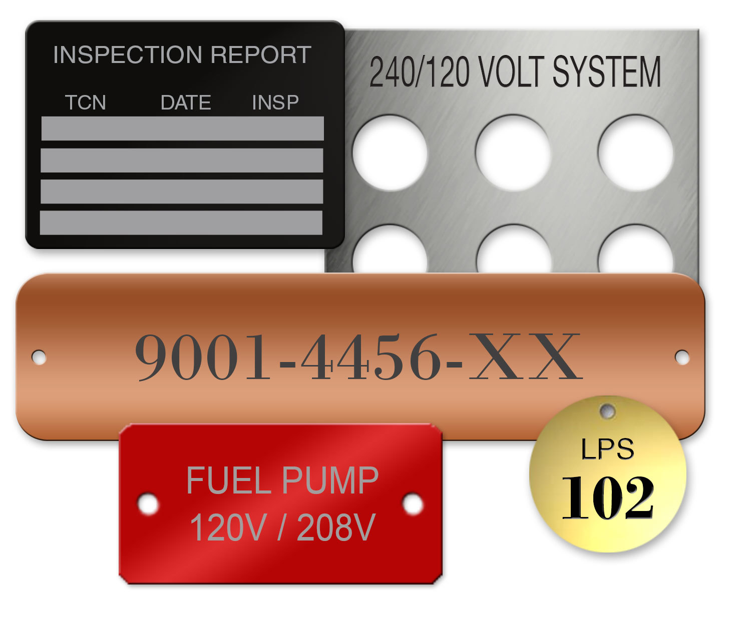 Equipment Inudstrial Tags