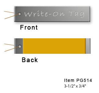Aluminum Write On Tags