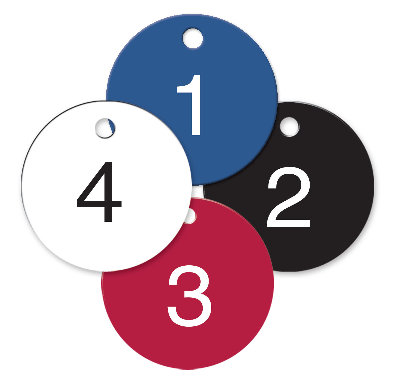 Numbered Plastic Tags Circle