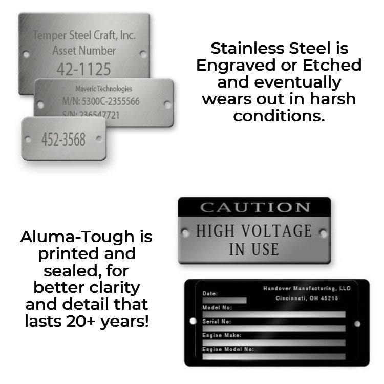 Stainless Steel Metal Vs Aluma Tough Tags Min
