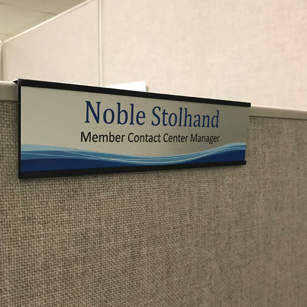 Over the Cube Nameplates and Holders for Cubicles USA Made - NapTags.com